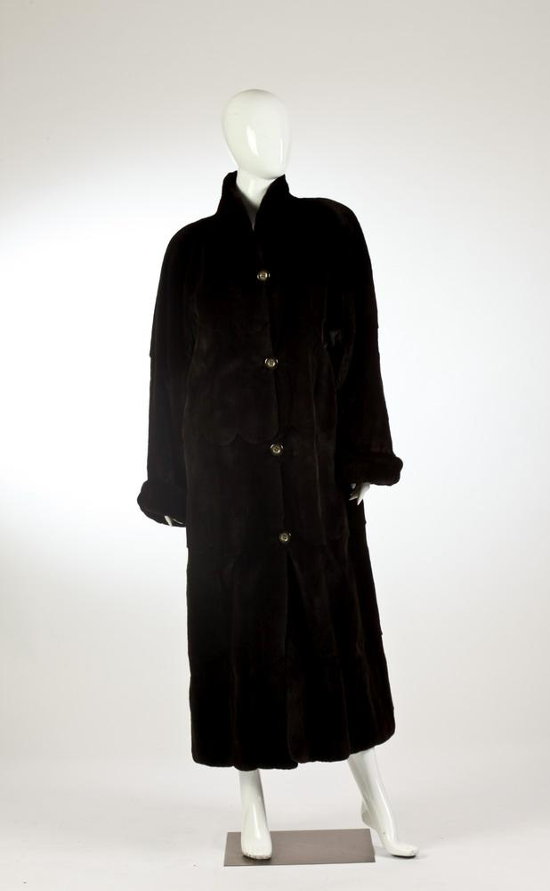 GARTENHAUS SHEARED MINK REVERSIBLE FULL-LENGTH COAT.