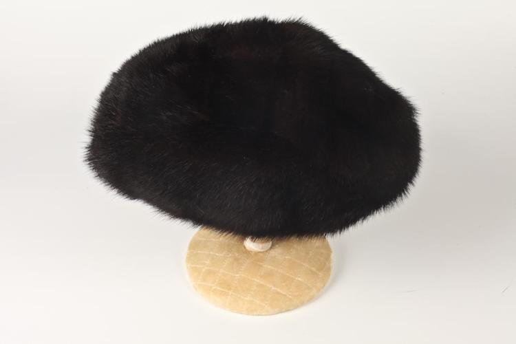 FUR HAT FROM BACHRACH'S, WASHINGTON DC.