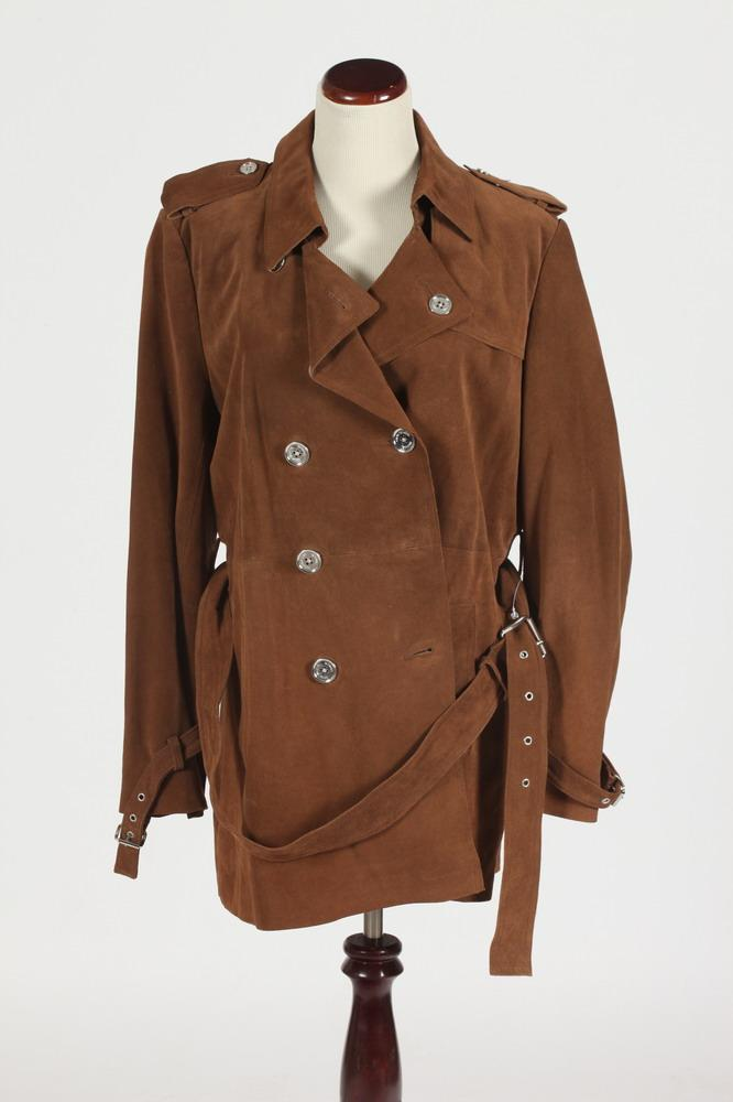 MICHAEL KORRS CINNAMON BROWN SUEDE JACKET, Size XL.