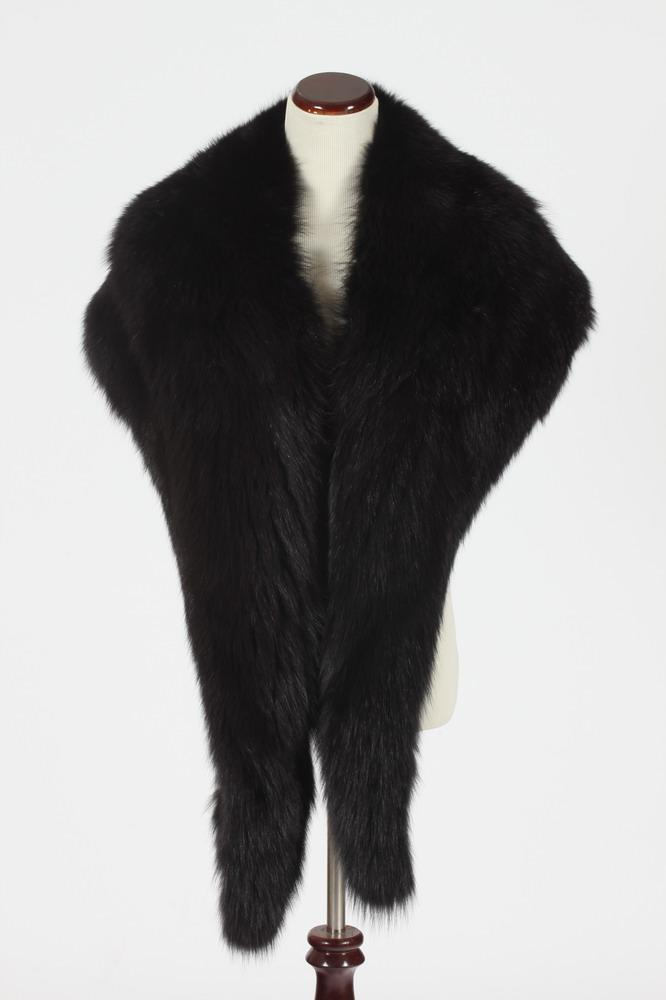 BLACK MINK WRAP. Made in France.