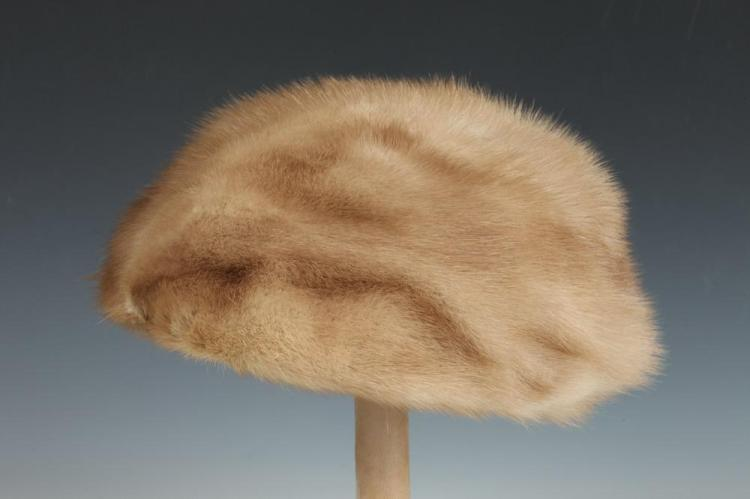 TAN MINK HAT.