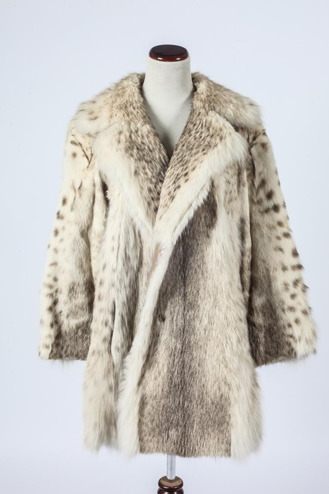 REVILLON LYNX FUR 3/4 LENGTH COAT.