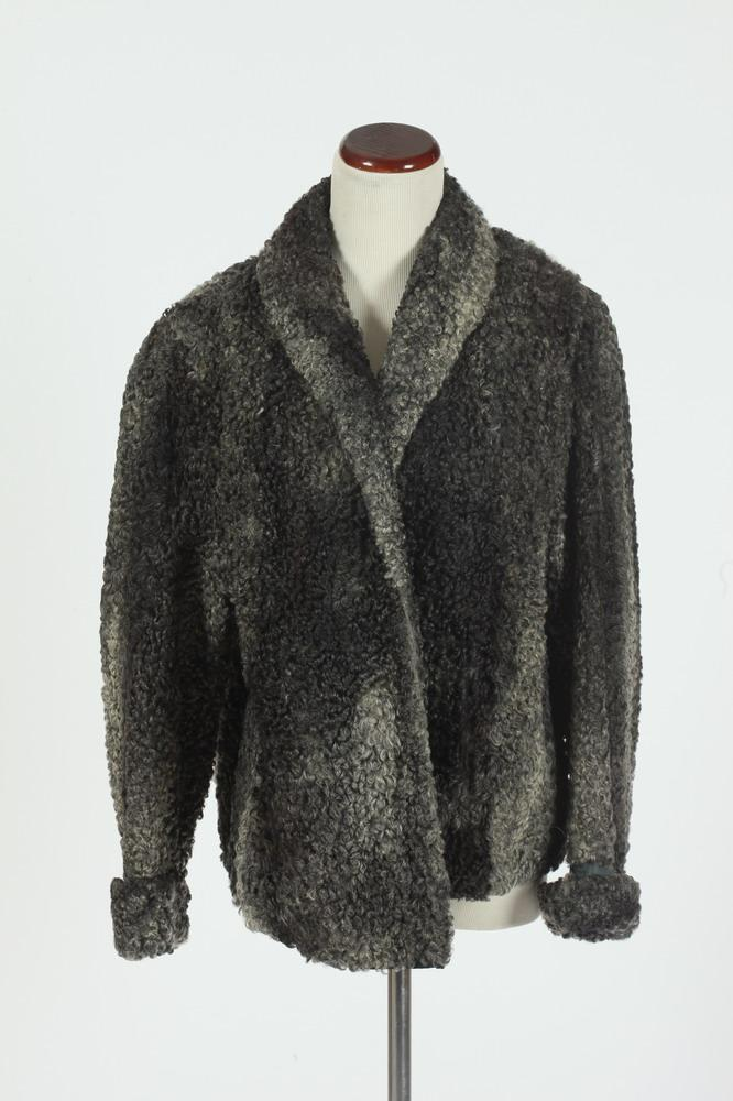 PERSIAN LAMB GREY-BLACK JACKET.