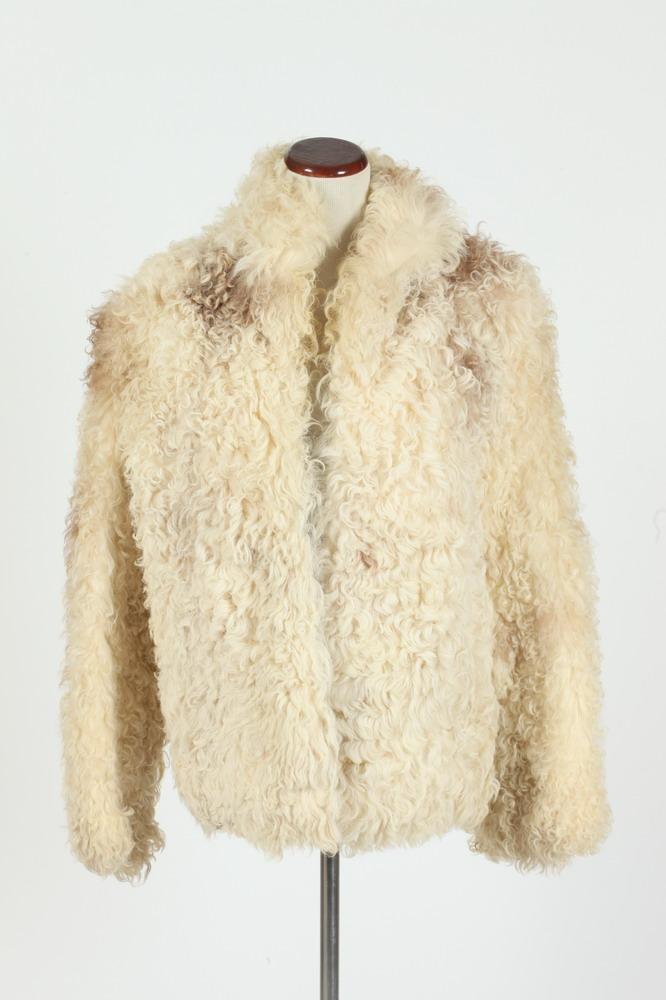 VINTAGE OVERLAND SHEEPSKIN COAT, size medium.
