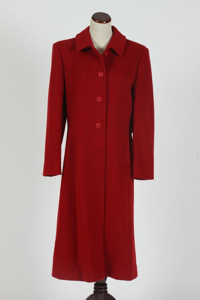 PENDLETON VINTAGE RED WOOL COAT, size 6/8.