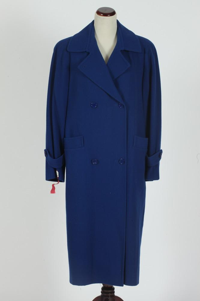 VINTAGE BLUE WOOL COAT, size 6/8.