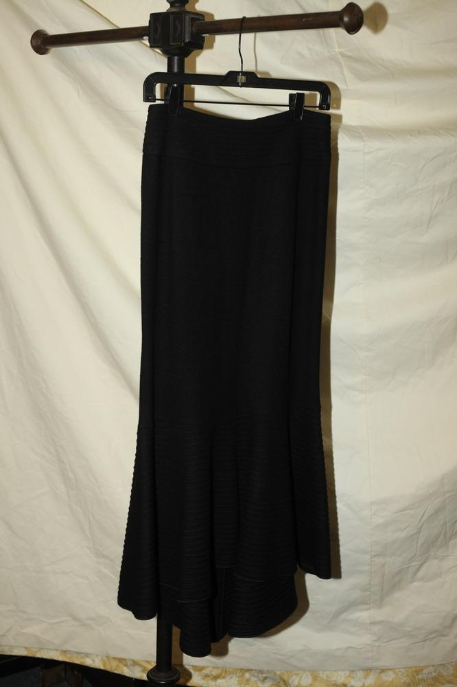 ARMANI BLACK WOOL SKIRT, size 10.