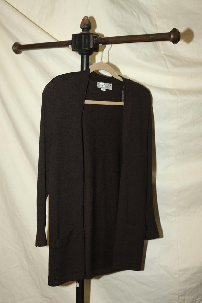 ST-JOHN-CHOCOLATE-BROWN-SWEATER. size medium.