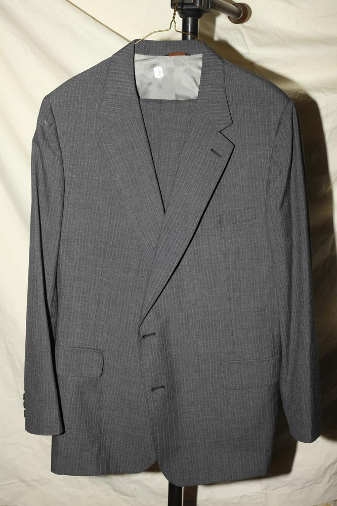 CRICKETEER MEN'S GREY PINSTRIPE SUIT,