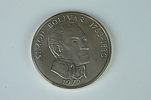 PANAMA SILVER 20 BALBOA COIN, Dated 1972. - Weight: 4 oz 2 dwt; 2 3/8 in. diam.