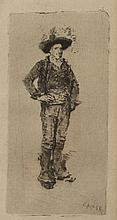 WILLIAM MERRITT CHASE. (American, 1849-1916). SPANISH PEASANT, etching.