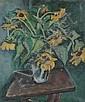 ETHEL V. ASHTON (American, 1896-1975). SUNFLOWERS, signed on verso. Oil on canvas., Ethel V Ashton, Click for value