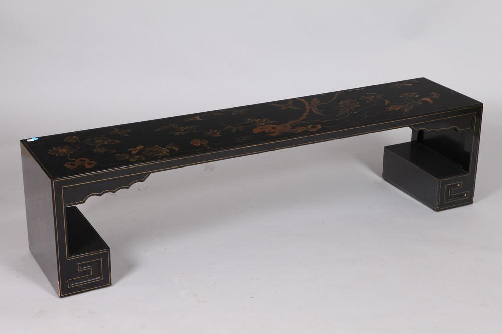 Prime Chinese Black Lacquer Low Table With Gilt Decoration 20Th C Pdpeps Interior Chair Design Pdpepsorg