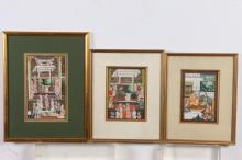 THREE FRAMED 20TH CENTURY INDIAN MINIATURE PAINTINGS, 20th/21st Century.