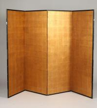 JAPANESE FOUR-FOLD SCREEN. 19th-20th Century. - each: 66 1/2 in. x 23 7/8 in.