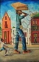 WILSON BIGAUD (Haitian, b. 1931). STREET VENDOR, signed lower right and inscribed on reverse. Oil on masonite., Wilson Bigaud, Click for value