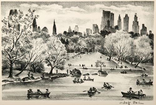 ADOLPH DEHN, American, 1895-1968, LAKE IN CENTRAL
