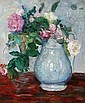 MAURICE GRUN (French, born 1869). ROSES IN BLUE W, Moritz Grün, Click for value
