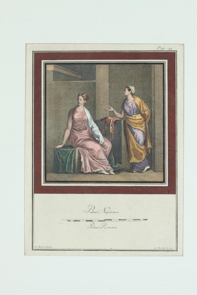COLLECTION OF FOUR 19TH CENTURY NEOCLASSICAL HANDCOLORED PRINTS DEPICTING MYTHOLOGICAL FIGURES, 17th/18th/19th Centuries.