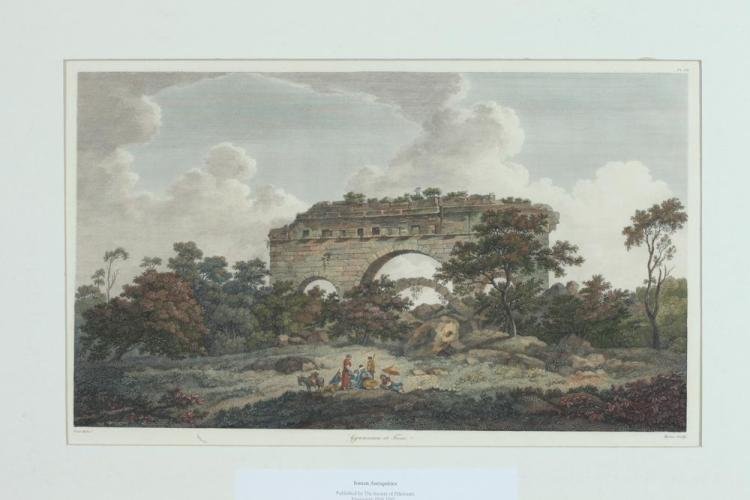 TWO 18TH CENTURY WILLIAM PARS HANDCOLORED ENGRAVINGS FROM IONIAN ANTIQUITIES, Richard Chandler ( English, 1737-1810). Published Society