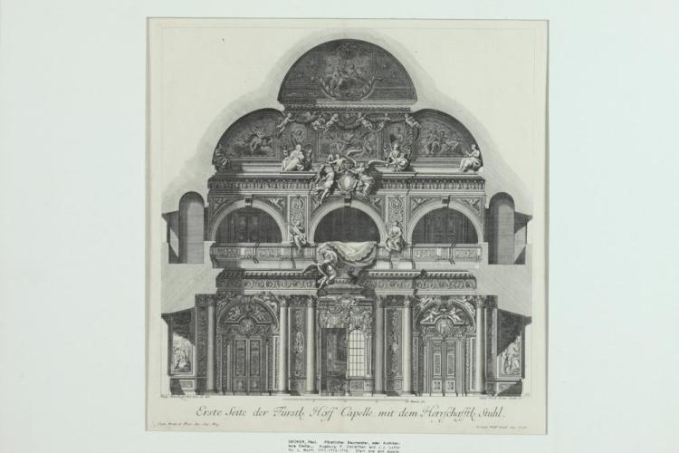 COLLECTION OF FOUR 18TH CENTURY PAUL DECKER ARCHITECTURAL ENGRAVINGS, ARCHITECTURA CIVILIS, Published Augsburg, 1711-13, 1716, by P. De