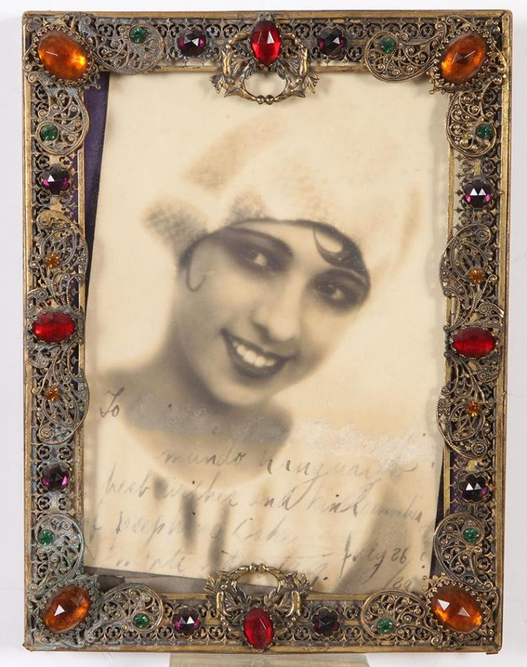 JOSEPHINE BAKER AUTOGRAPH-SIGNED AND INSCRIBED BLACK AND WHITE PHOTOGRAPH,