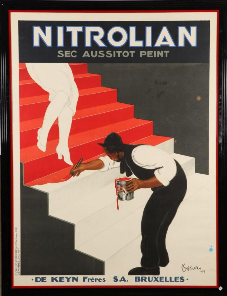 LARGE FRAMED FRENCH LEONETTO CAPPIELLO NITROLIAN ADVERTISING POSTER. Leonetto Cappiello (French, 1875-1942). Circa 1929. - 68