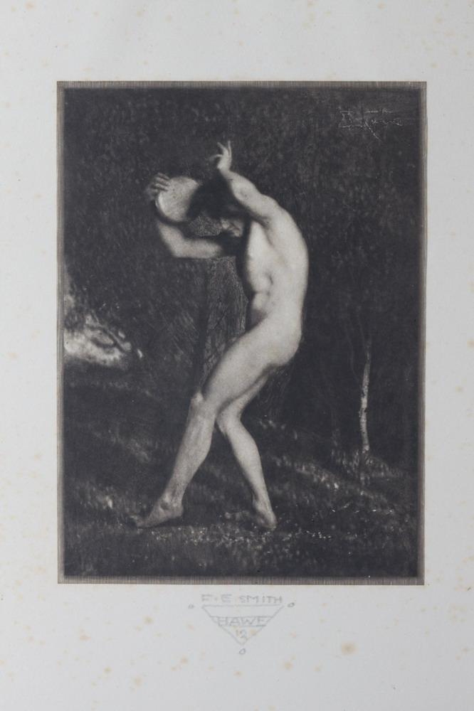 FRANK EUGENE SMITH, HAWE PORTFOLIO 12, 1914. MALE NUDE. (GAY INTEREST).