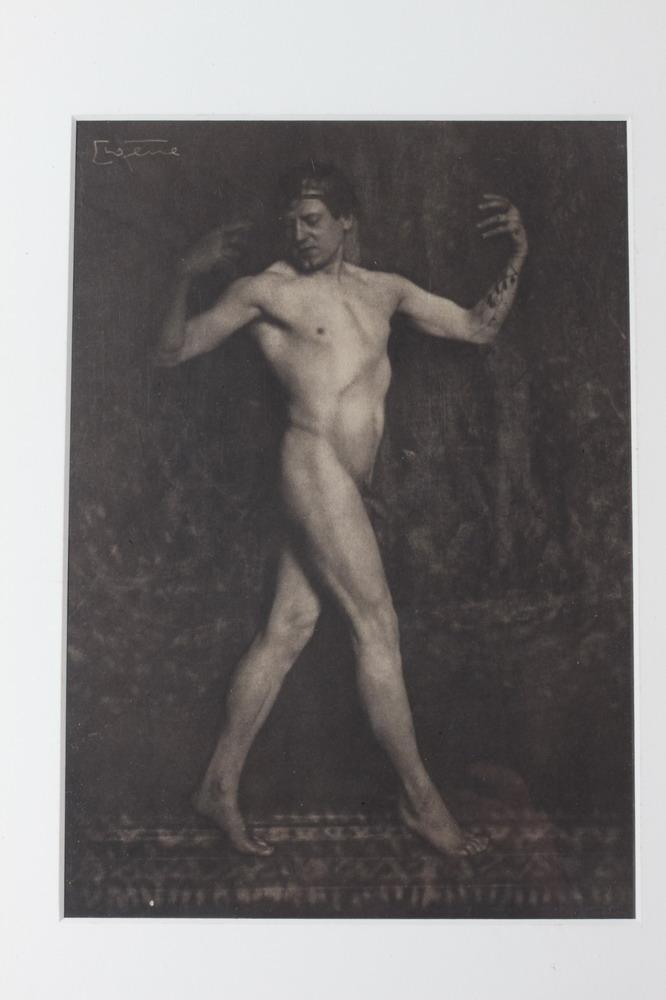 FRANK EUGENE SMITH, HAWE PORTFOLIO 11, 1914. MALE NUDE. ( GAY INTEREST ).