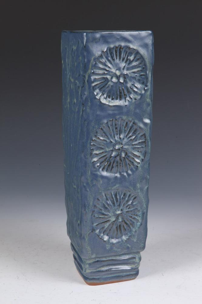 ARTS & CRAFTS GLAZED CERAMIC VASE. Early 20th Century. Marked to base. - 13