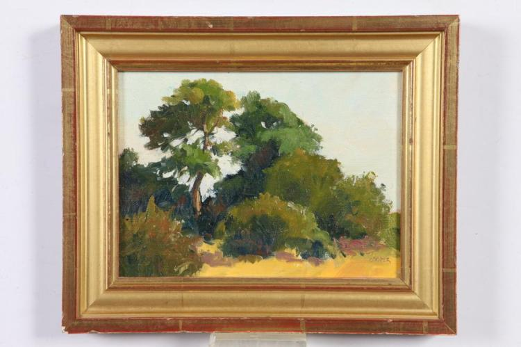 ED COOPER (American, b. 1940). MARYLAND LANDSCAPE, signed lower right and titled verso. Oil on panel.