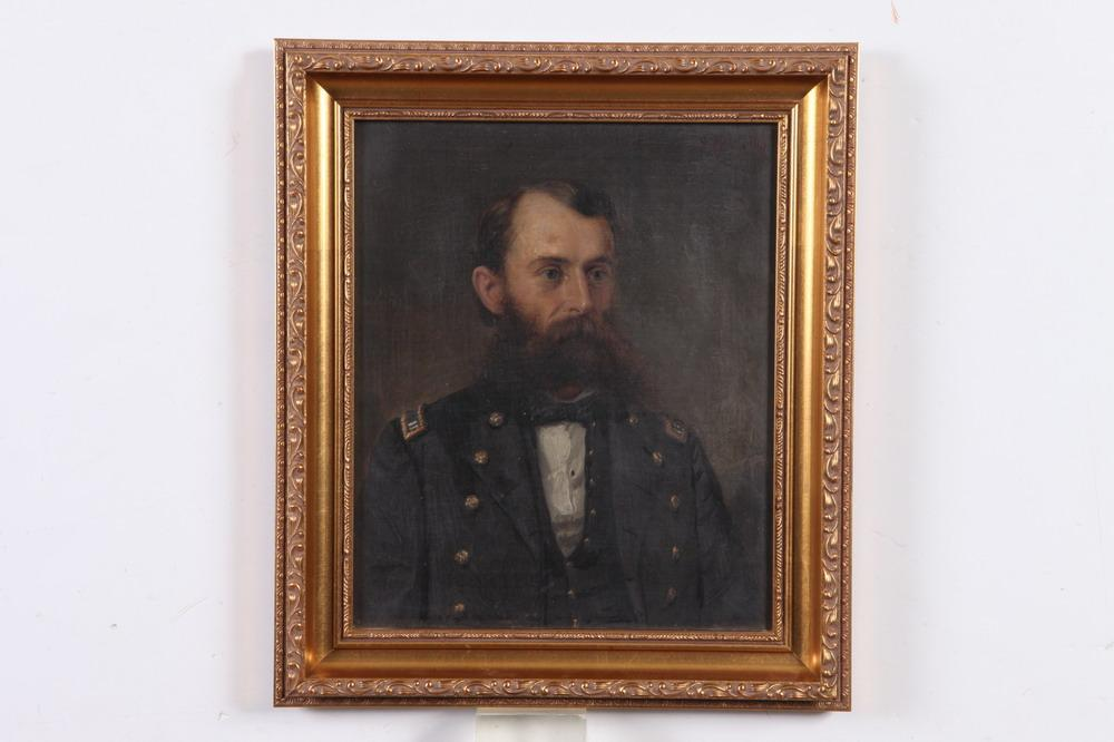 SILAS JEROME UHL (American, 1842-1916). PORTRAIT OF COLONEL SANDERSON, signed and dated 1877 upper right. Oil on canvas.