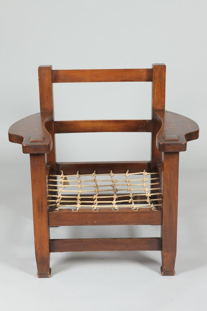 JOSEPH MCHUGH ATTRIBUTED MISSION ARM CHAIR. 20th Century. Chair is not signed or marked. - 38