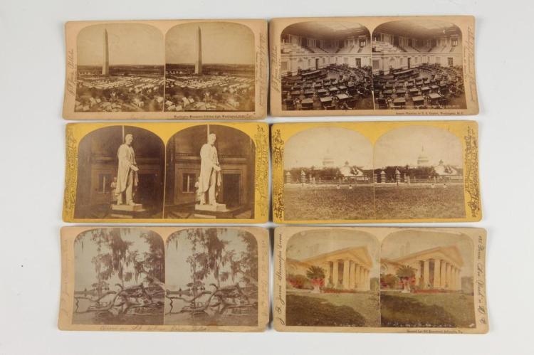 STEREOVIEWS, MOST OF WASHINGTON, D.C, Late 19th century.