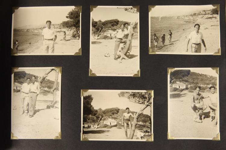 PHOTOGRAPH ALBUM OF GREECE, circa 1950's. - Album pages 10.25 in. x 14 in.