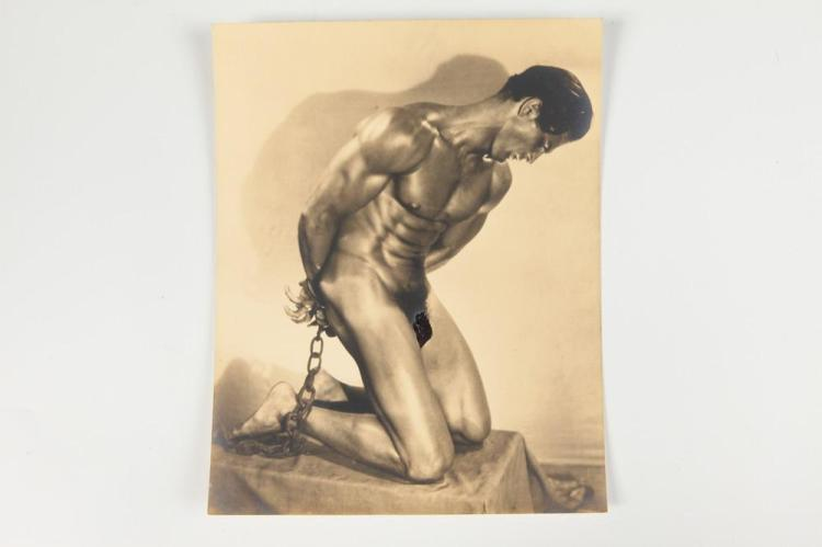 EDWIN F. TOWNSEND, PORTRAIT OF TONY SANSONE, GAY INTEREST, 1930-1939. - 9.5 in. x 7.5 in.