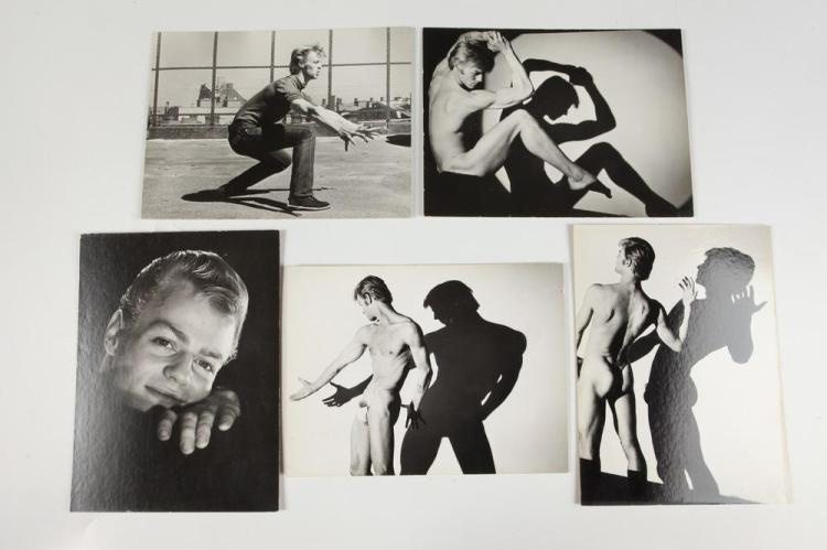 KENN DUNCAN (1928-86), SIXTY PHOTOGRAPHS, SOME NUDE, OF MALE DANCERS, GAY INTEREST, (1928-1986) circa 1970. - Each, 7 in. x 9 in. or 9