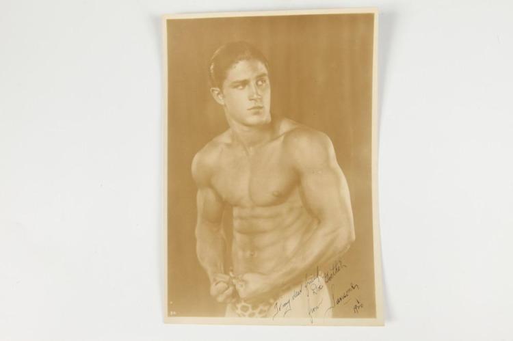 SIGNED PORTRAIT OF TONY SANSONE, GAY INTEREST. 1926. - 9.5 in. x 6.5 in.