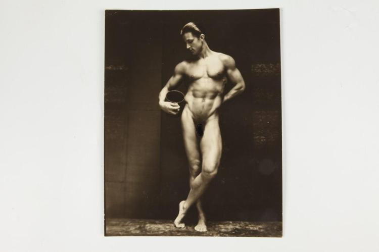 EDWIN F. TOWNSEND, PORTRAIT OF TONY SANSONE, GAY INTEREST, 1930-1939. - 9.75 in. x 7.5 in.