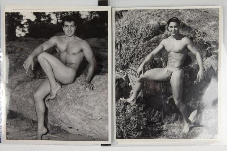 BRUCE OF LOS ANGELES, GAY INTEREST, circa 1950's-1960's. - All images 10 in. x 8 in. or 8 in. x 10 in.