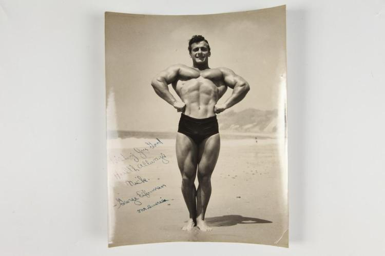 BRUCE OF LOS ANGELES, SIGNED PHOTOGRAPH OF MR. AMERICA GEORGE EIFERMAN, GAY INTEREST. circa 1962. - 9.5 in. x 7.5 in.