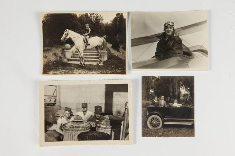 VERNACULAR PHOTOGRAPHY, early 20th century. - Images: 5.25 in. x 3.5 in. and smaller.