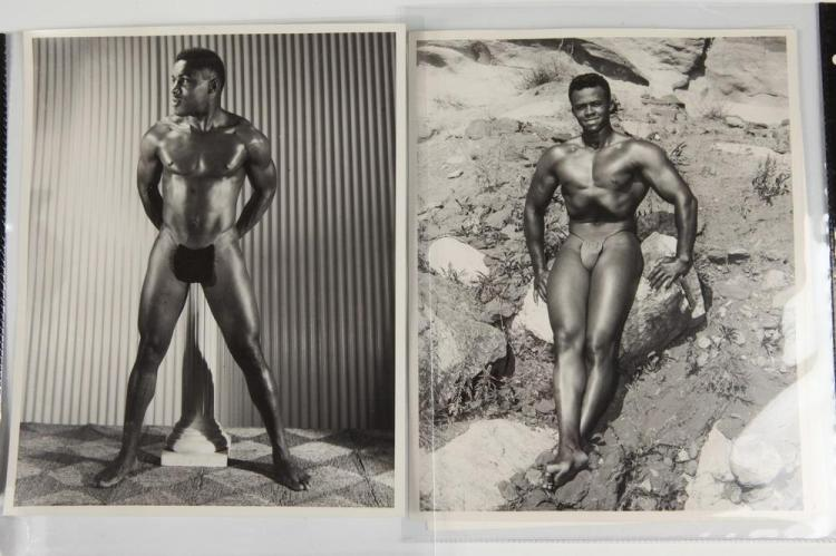 BRUCE OF LOS ANGELES, PHOTOGRAPHS OF AFRICAN-AMERICAN MEN, GAY INTEREST, circa 1950's-1960's. - Sizes vary from 5 in. x 4 in. to 8 in