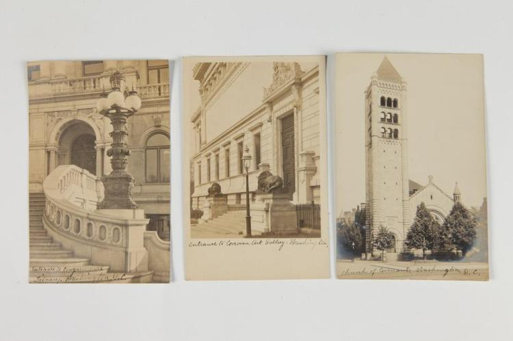 REAL PHOTO POST CARDS OF WASHINGTON, D.C., early 20th century. - 5.5 in. x 3.5 in.