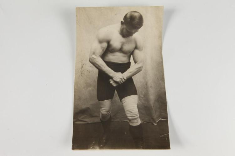 GEORGE HACKENSCHMIDT, circa 1910. - 9.5 in. x 5.5 in.