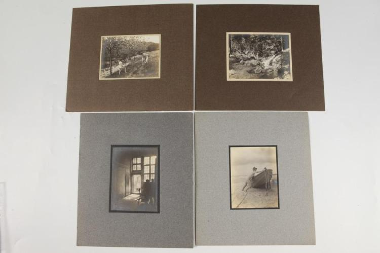THREE NUDE STUDIES OF BOYS, circa 1900. - Each image 4.25 in. x 3.25 in.