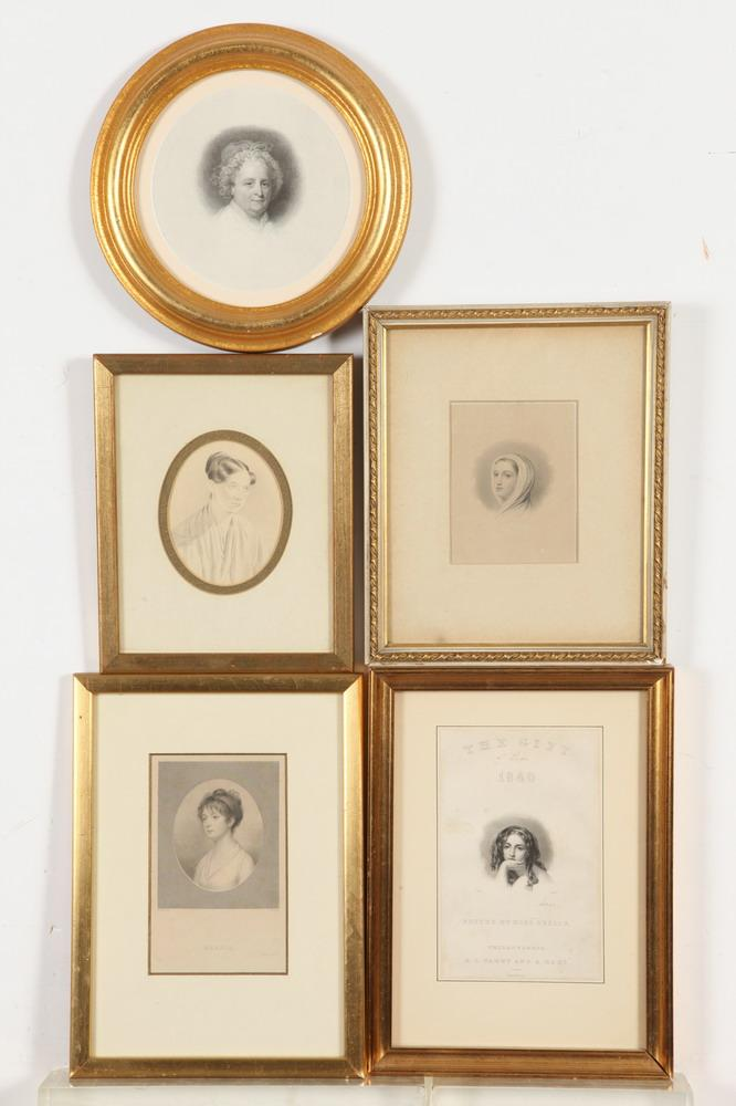 COLLECTION OF THIRTY-EIGHT GILT FRAMED ENGRAVINGS BY JOHN CHENEY, INCLUDING ONE OF MARTHA WASHINGTON,