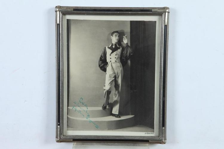 FOUR AUTOGRAPH-SIGNED BLACK AND WHITE PHOTOGRAPHS OF EARLY-TO-MID 20TH CENTURY DANCERS.