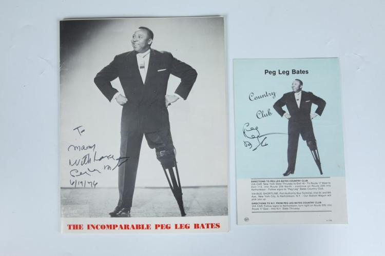 SEVEN 20TH CENTURY AUTOGRAPH-SIGNED BLACK AND WHITE PHOTOGRAPHS OF BLACK ACTORS AND ENTERTAINERS,