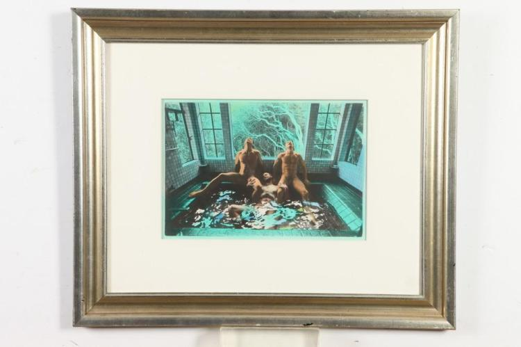 CRAWFORD BARTON, GAY INTEREST, circa 1980. - 8.25 in. x 13 in.; framed, 19.5 in. x 23.5 in.